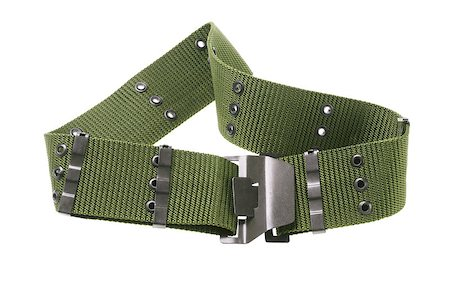 Green Nylon Canvas Military Belt On White Background Stock Photo - Budget Royalty-Free & Subscription, Code: 400-06850359