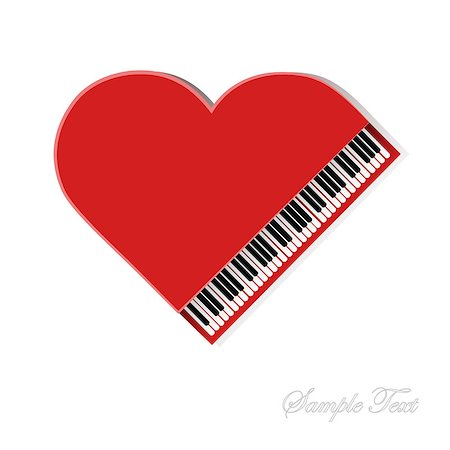 Red piano on white background for your design Stock Photo - Budget Royalty-Free & Subscription, Code: 400-06850619