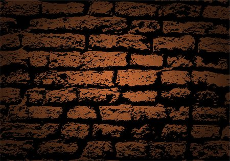 Grunge color brick wall background. Vector illustration with transparency. Stock Photo - Budget Royalty-Free & Subscription, Code: 400-06851825