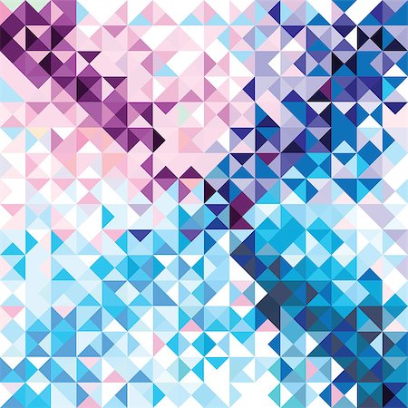 svetap (artist) - Retro seamless pattern of geometric shapes. Colorful mosaic banner. Geometric triangle vector hipster background. Stock Photo - Budget Royalty-Free & Subscription, Code: 400-06852845