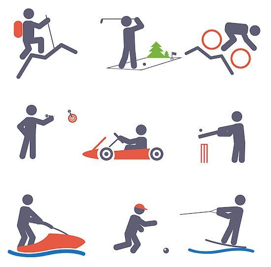 Sport icons. Vector set for you design Stock Photo - Royalty-Free, Artist: saransk, Image code: 400-06852945