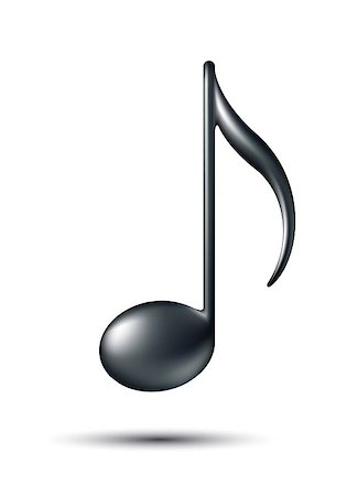 Music Note Sign. Music icon. Vector illustration Stock Photo - Budget Royalty-Free & Subscription, Code: 400-06853060