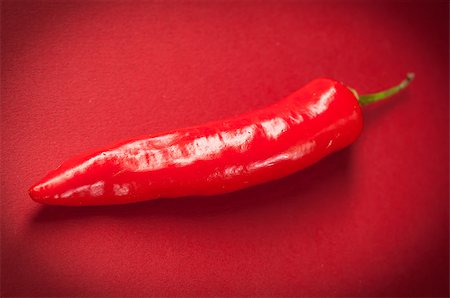 Red long thai chili pepper Stock Photo - Budget Royalty-Free & Subscription, Code: 400-06864393