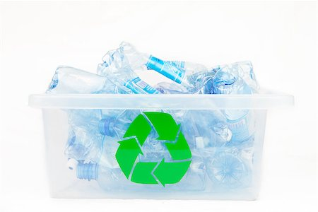 Box for recycling bottles on white background Stock Photo - Budget Royalty-Free & Subscription, Code: 400-06864409