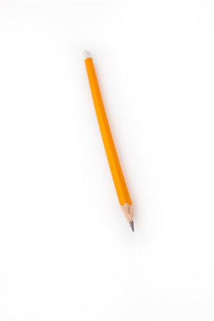 Yellow pencil with eraser on the end Stock Photo - Budget Royalty-Free & Subscription, Code: 400-06864419