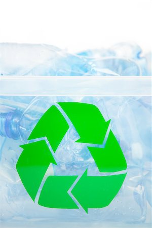 Recycling box full of plastic bottles Stock Photo - Budget Royalty-Free & Subscription, Code: 400-06864412