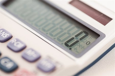 Close-up of calculator showing an amount Stock Photo - Budget Royalty-Free & Subscription, Code: 400-06864424