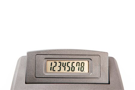 Close-up of calculator display with numbers from one to eight Stock Photo - Budget Royalty-Free & Subscription, Code: 400-06864437
