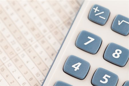 Close up of calculator on maths tables Stock Photo - Budget Royalty-Free & Subscription, Code: 400-06864433