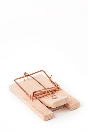 Mousetrap on white background Stock Photo - Budget Royalty-Free & Subscription, Code: 400-06864444