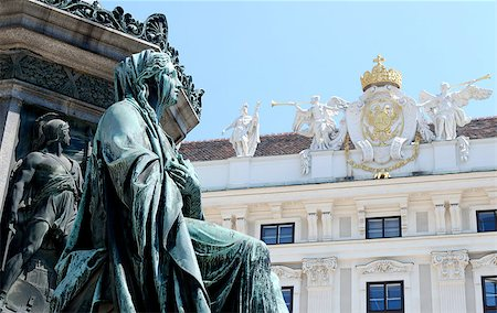 Detail of the monument to Kaiser Franz I (Emperor Franz I of Austria) against the Hofburg in Vienna Stock Photo - Budget Royalty-Free & Subscription, Code: 400-06867437