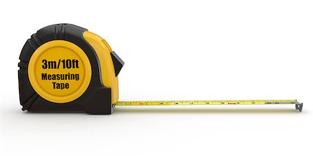 Tools. Measure tape on white background. 3d Stock Photo - Budget Royalty-Free & Subscription, Code: 400-06860027