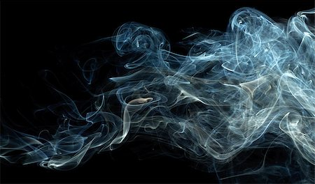 blue abstract smoke pattern on a black background Stock Photo - Budget Royalty-Free & Subscription, Code: 400-06860108