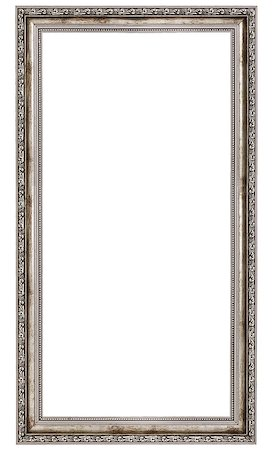 very long wooden frame isolated on white background Stock Photo - Budget Royalty-Free & Subscription, Code: 400-06860484