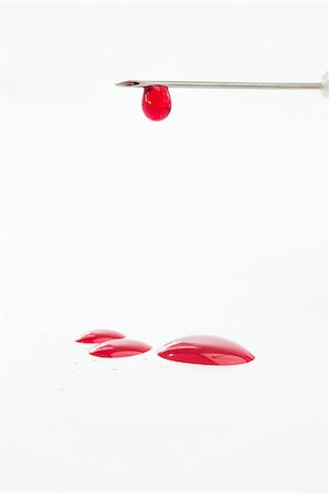 dripping blood - Hypodermic needle dripping blood on white background Stock Photo - Budget Royalty-Free & Subscription, Code: 400-06876261