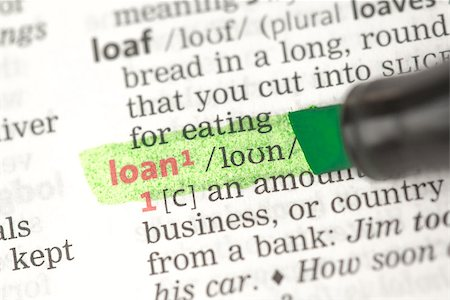 education loan - Loan definition highlighted in green in the dictionary Stock Photo - Budget Royalty-Free & Subscription, Code: 400-06876994