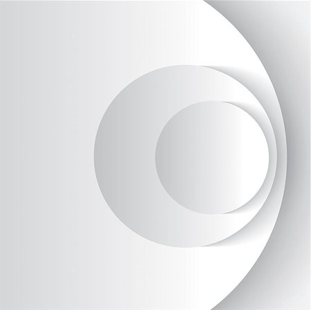 White abstract circles with drop shadow background. Vector illustration Stock Photo - Budget Royalty-Free & Subscription, Code: 400-06916571