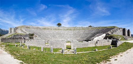Spring view of Dodoni Ancient Theater in Greece. Stock Photo - Budget Royalty-Free & Subscription, Code: 400-06918274