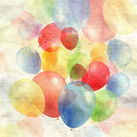 fun happy colorful background images - Air-colored balls on a fabric background Stock Photo - Budget Royalty-Free & Subscription, Code: 400-06918281
