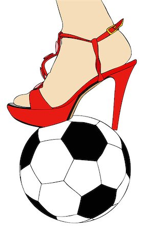 stocking feet - Women and football Stock Photo - Budget Royalty-Free & Subscription, Code: 400-06919424