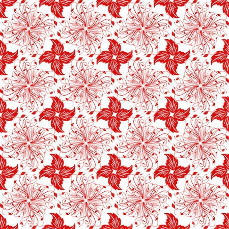 Beautiful background of seamless floral patten Stock Photo - Budget Royalty-Free & Subscription, Code: 400-06928811