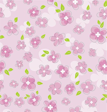 Vector illustration of Floral seamless pattern Stock Photo - Budget Royalty-Free & Subscription, Code: 400-06944034