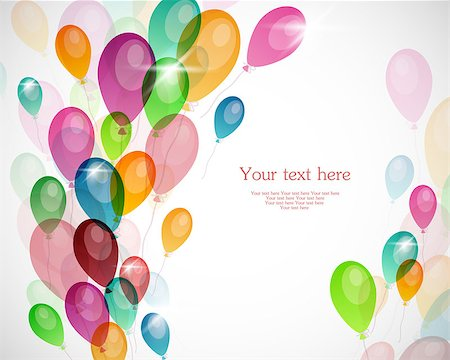 fun happy colorful background images - Vector illustration of Background with colored balloons Stock Photo - Budget Royalty-Free & Subscription, Code: 400-06944172