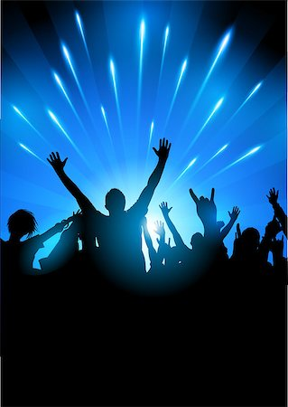 A crowd of people at a concert gig, vector illustration Stock Photo - Budget Royalty-Free & Subscription, Code: 400-06944550