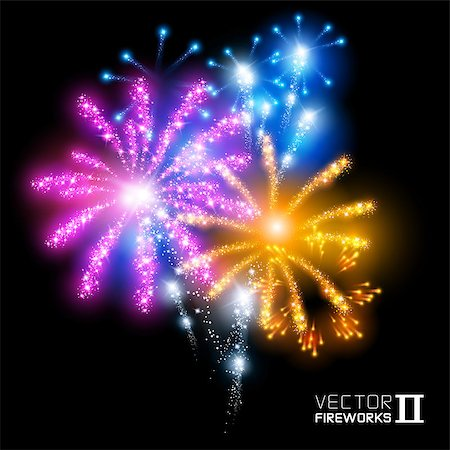 fireworks illustrations - More beautiful vector fireworks. Vector illustration. Stock Photo - Budget Royalty-Free & Subscription, Code: 400-06944560