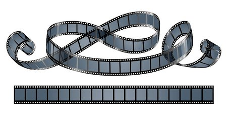 film strip - twisted film reel isolated on white background - eps10 vector illustration Stock Photo - Budget Royalty-Free & Subscription, Code: 400-06944822