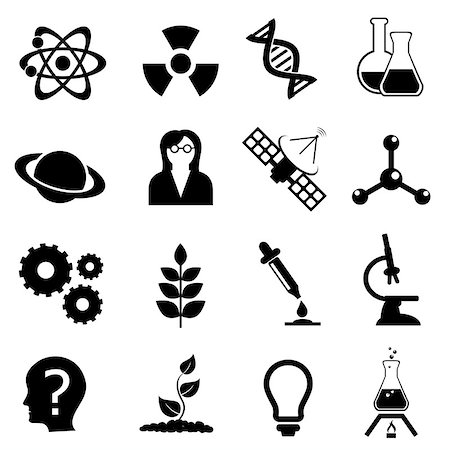 soleilc (artist) - Science related, physics, biology and chemistry icon set Stock Photo - Budget Royalty-Free & Subscription, Code: 400-06945784
