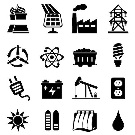 soleilc (artist) - Energy related icon set in black Stock Photo - Budget Royalty-Free & Subscription, Code: 400-06946553
