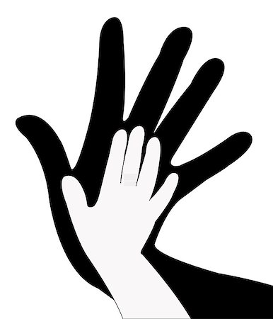hands silhouette vector Stock Photo - Budget Royalty-Free & Subscription, Code: 400-06946652