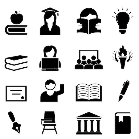soleilc (artist) - College and higher education icon set Stock Photo - Budget Royalty-Free & Subscription, Code: 400-06947369