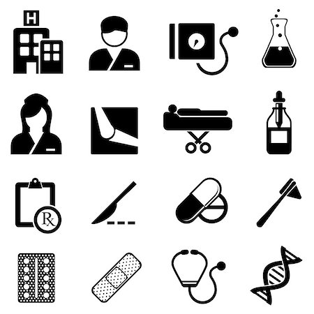 soleilc (artist) - Healthcare and medical related icon set Stock Photo - Budget Royalty-Free & Subscription, Code: 400-06954646