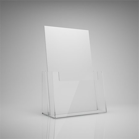 enki (artist) - Blank brochure glass holder Stock Photo - Budget Royalty-Free & Subscription, Code: 400-06950112