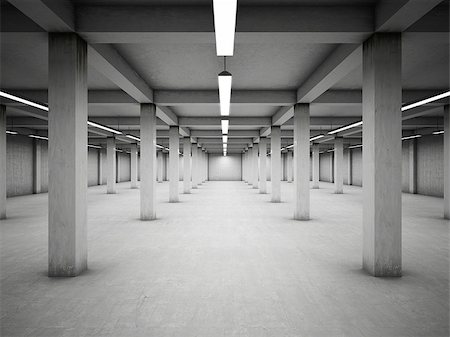 enki (artist) - Empty underground parking area Stock Photo - Budget Royalty-Free & Subscription, Code: 400-06950175