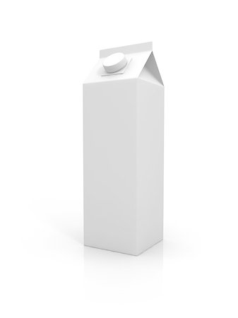 enki (artist) - Blank milk package isolated on white background Stock Photo - Budget Royalty-Free & Subscription, Code: 400-06950185
