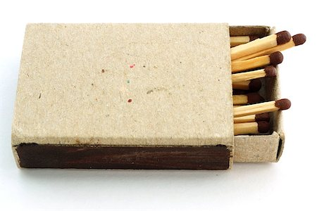 Wooden matches in an open old cardboard box Stock Photo - Budget Royalty-Free & Subscription, Code: 400-06950871