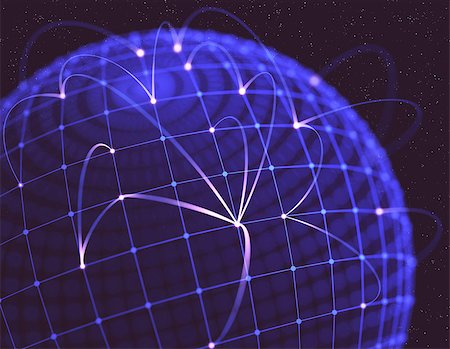 Network connections shaped globe, the concept of social media. Stock Photo - Budget Royalty-Free & Subscription, Code: 400-06951314
