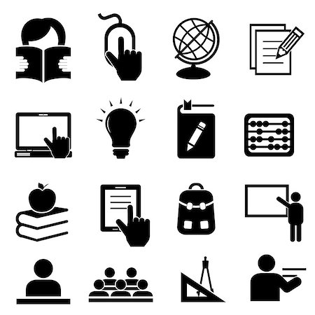 soleilc (artist) - Back to school icon set Stock Photo - Budget Royalty-Free & Subscription, Code: 400-06952862