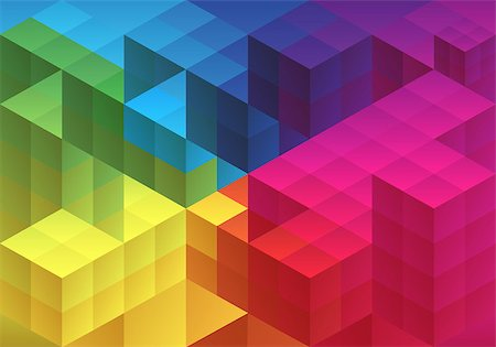 Abstract cube design, geometric polygon pattern, vector background Stock Photo - Budget Royalty-Free & Subscription, Code: 400-07036496