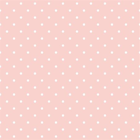 Seamless vector pattern with white polka dots on a cute, pastel baby pink background. For cards, invitations, wedding or baby shower albums, backgrounds, arts and scrapbooks. Stock Photo - Budget Royalty-Free & Subscription, Code: 400-07037259