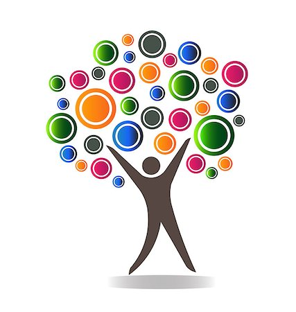 family abstract - People tree abstract concept Stock Photo - Budget Royalty-Free & Subscription, Code: 400-07039760