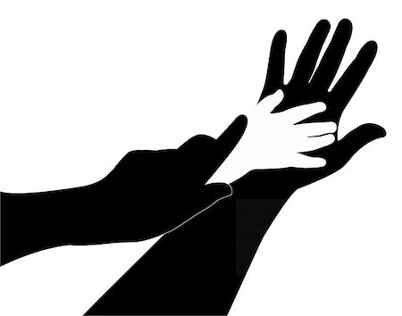 hands silhouette vector Stock Photo - Budget Royalty-Free & Subscription, Code: 400-07033775