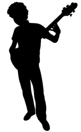 silhouette of a guitarist, vector Stock Photo - Budget Royalty-Free & Subscription, Code: 400-07033785