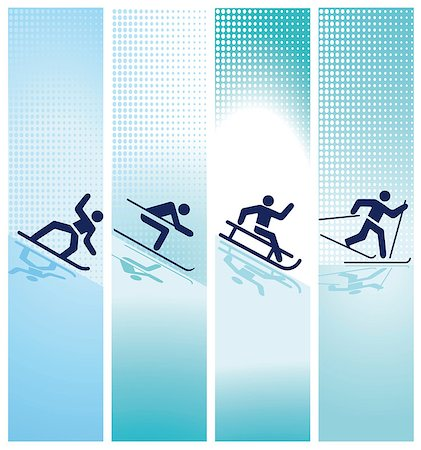 winter sports in the mountain Stock Photo - Budget Royalty-Free & Subscription, Code: 400-07044884