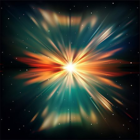 firework illustration - abstract space background with supernova and stars Stock Photo - Budget Royalty-Free & Subscription, Code: 400-07047379