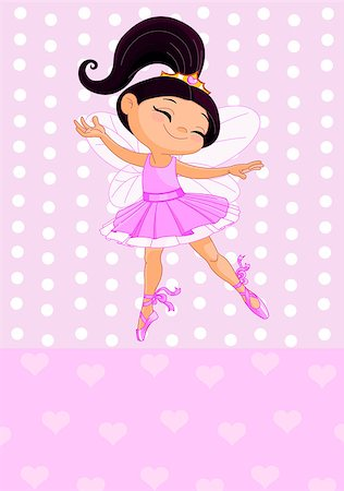 Happy little princess over pink background Stock Photo - Budget Royalty-Free & Subscription, Code: 400-07047639