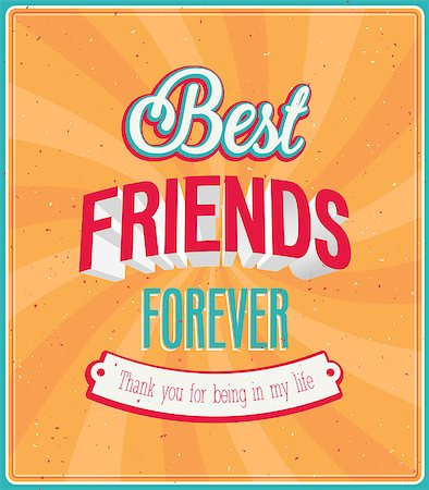 forever - Best friends forever typographic design. Vector illustration. Stock Photo - Budget Royalty-Free & Subscription, Code: 400-07047895